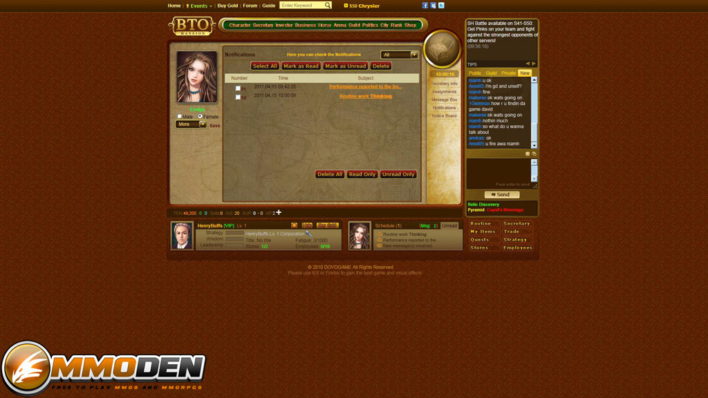 Business tycoon online review news videos walkthroughs for Business tycoon