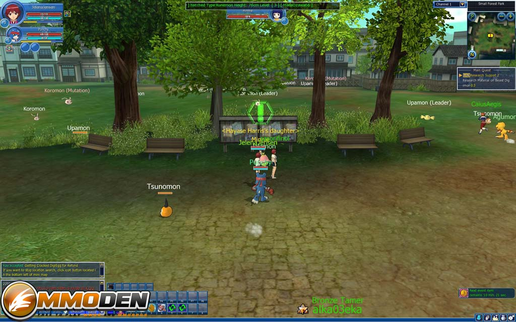 digimon masters online game