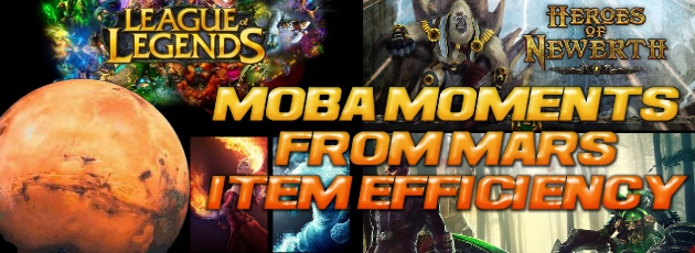 MOBA Moments from Mars: Item Efficiency