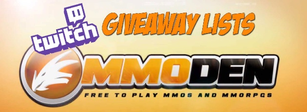 Free MMORPG July 2013 Twitch Monthly Giveaway Winners & Full List
